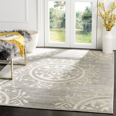 Allerton Gray Outddor Indoor/Outdoor Area Rug Rug Size: Rectangle 4 x 6