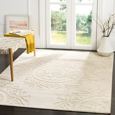Bryan Light Beige/Cream Indoor/Outdoor Area Rug Rug Size: Rectangle 33 x 53