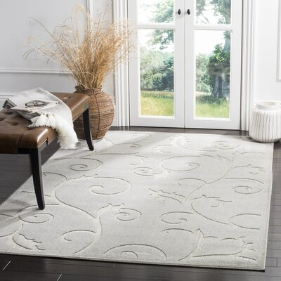 Bryan Gray Area Rug Rug Size: Rectangle 33 x 53