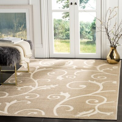 Bryan Light Beige/Cream Area Rug Rug Size: Rectangle 53 x 77