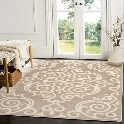 Bryan Light Beige/Cream Indoor/Outdoor Area Rug Rug Size: Rectangle 53 x 77