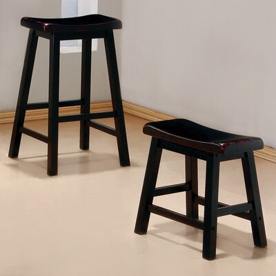 Shoals 29 Bar Stool Upholstery: Antique Black