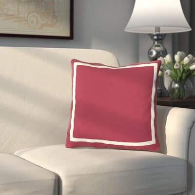 Pekham Throw Pillow Size: 26 H x 26 W, Color: Chili Pepper Red