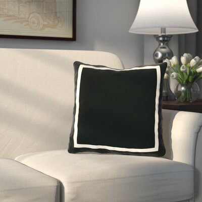 Pekham Throw Pillow Size: 18 H x 18 W, Color: Black