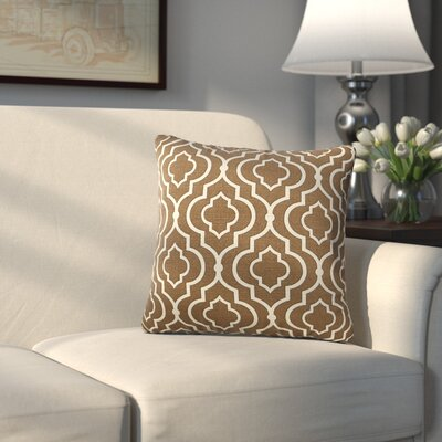 Carlyle 100% Cotton Throw Pillow Color: Chocolate, Size: 18 H x 18 W