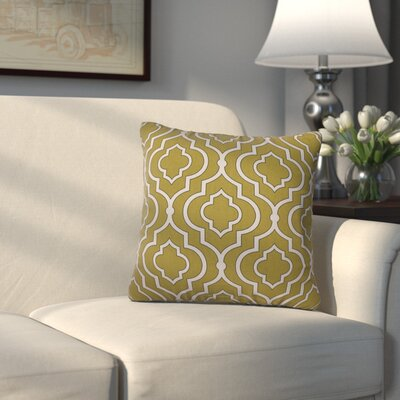 Carlyle Cotton Throw Pillow Size: 16.5 H x 16.5 W, Color: Green
