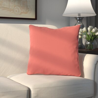 Bergfield Throw Pillow Color: Dark Coral