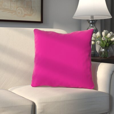 Bergfield Throw Pillow Color: Hot Pink