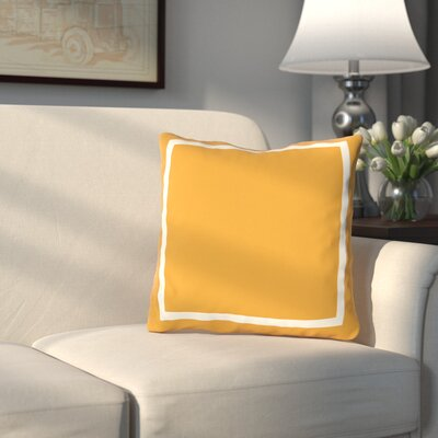 Pekham Simple Square Polyester Throw Pillow Size: 18 H x 18 W, Color: Orange