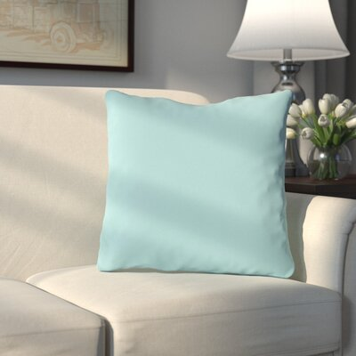 Bergfield Throw Pillow Color: Pale Aqua