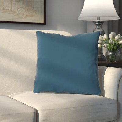 Bergfield Throw Pillow Color: Moroccan Blue