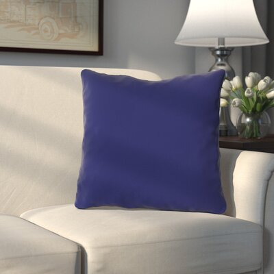 Bergfield Throw Pillow Color: Whale Blue