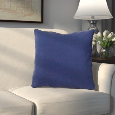 Bonniview Canvas Indoor/Outdoor Sunbrella Throw Pillow Color: Navy Blue