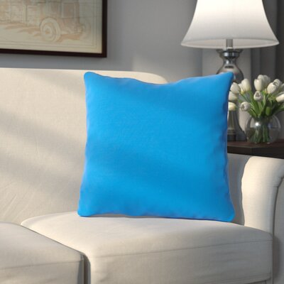 Bonniview Canvas Indoor/Outdoor Sunbrella Throw Pillow Color: Capri Blue