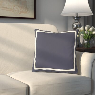 Pekham Throw Pillow Size: 18 H x 18 W, Color: Navy