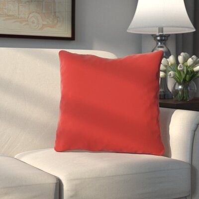 Bergfield Throw Pillow Color: Rocket Red