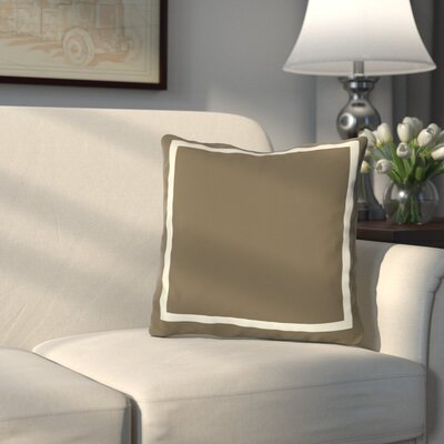 Pekham Throw Pillow Size: 18 H x 18 W, Color: Coffee Brown