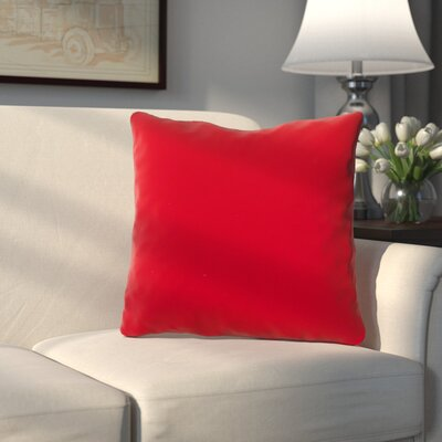 Bonniview Canvas Indoor/Outdoor Sunbrella Throw Pillow Color: Jockey Red