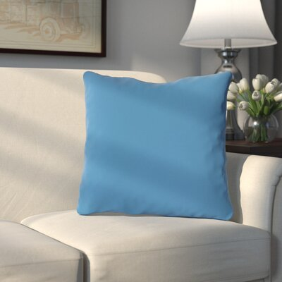 Bergfield Solid Throw Pillow Color: Bright Blue