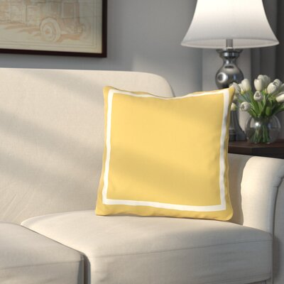 Pekham Throw Pillow Size: 26 H x 26 W, Color: Mimosa Yellow
