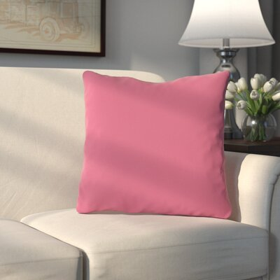 Bergfield Throw Pillow Color: Honeysuckle
