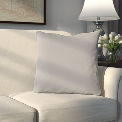Bergfield Solid Throw Pillow Color: Pale Gray