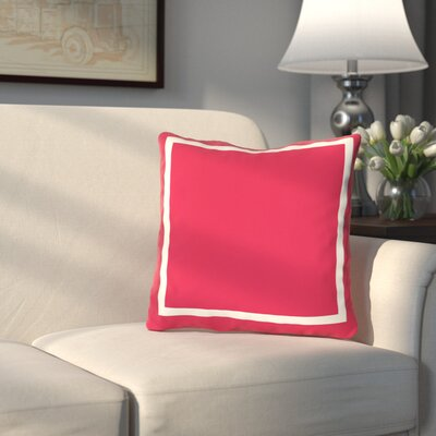 Pekham Throw Pillow Size: 18 H x 18 W, Color: Bright Red