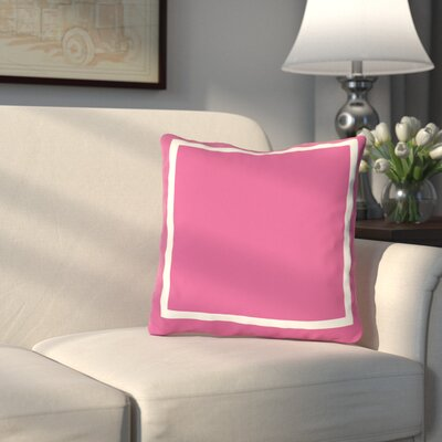 Pekham Throw Pillow Size: 16 H x 16 W, Color: Hot Pink