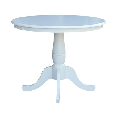 Doylan Dining Table Size: 36, Finish: White