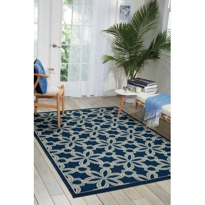 Lewis Navy & Ivory Indoor/Outdoor Area Rug Rug Size: 26 x 4