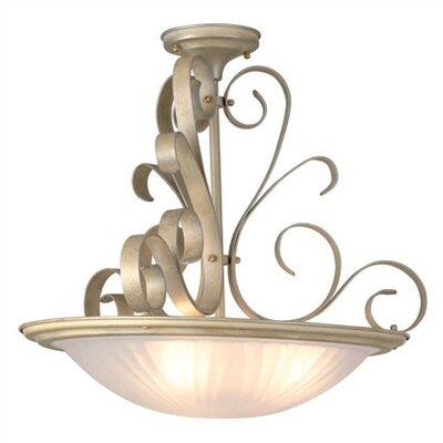 Curland 3-Light Semi Flush Mount