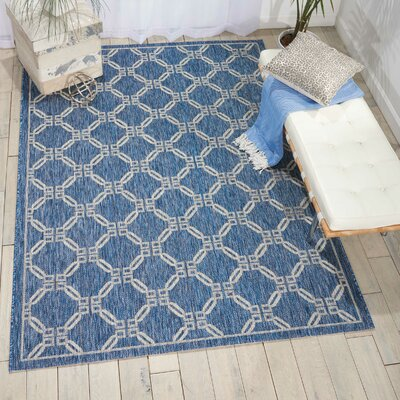 Cochrane Denim Indoor/Outdoor Area Rug Rug Size: Rectangle 53 x 73