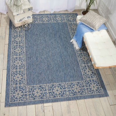 Cochrane Denim Indoor/Outdoor Area Rug Rug Size: 53 x 73