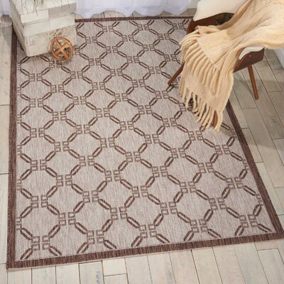 Cochrane Natural Indoor/Outdoor Area Rug Rug Size: 53 x 73