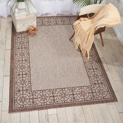 Cochrane Natural Indoor/Outdoor Area Rug Rug Size: 710 x 106