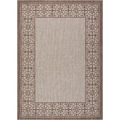 Cochrane Natural Indoor/Outdoor Area Rug Rug Size: Rectangle 53 x 73