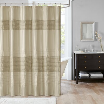 Morell Metallic Shower Curtain Color: Taupe