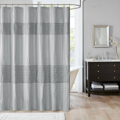 Morell Metallic Shower Curtain Color: Gray