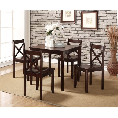 Flossmoor 5 Piece Dining Set Finish: Cappuccino