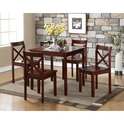 Flossmoor 5 Piece Dining Set Finish: Cherry