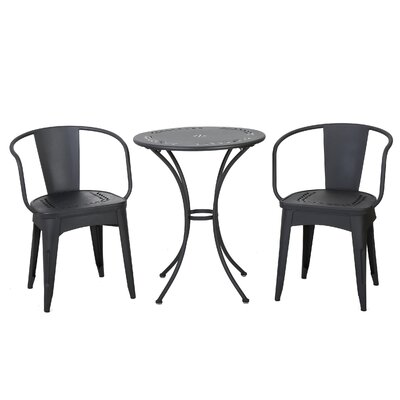 Triplehorn Indoor 3 Piece Metal Dining Set