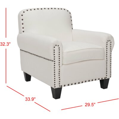 Yonkers Arm Chair Color: White
