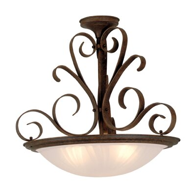 Cornell Lane 3-Light Inverted Pendant Finish: Brick