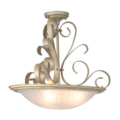 Cornell Lane 3-Light Inverted Pendant Finish: Pearl