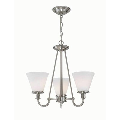 Hilltop 3-Light Shaded Chandelier