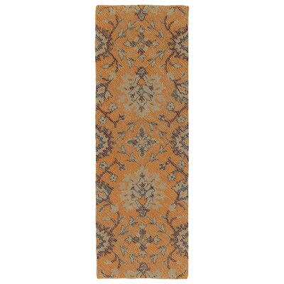Fairhaven Handmade Orange Indoor/Outdoor Area Rug Rug Size: Runner 2 x 6