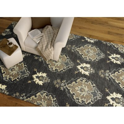 Dartmoor Hand-Tufted Charcoal Area Rug Rug Size: Rectangle 76 x 9