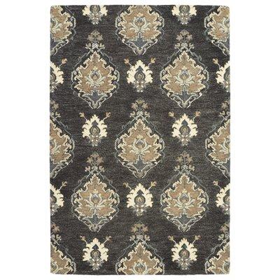 Dartmoor Hand-Tufted Charcoal Area Rug Rug Size: 76 x 9