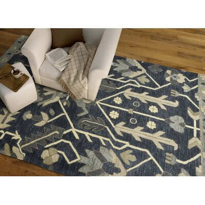 Dartmoor Hand-Tufted Denim Area Rug Rug Size: Rectangle 5 x 76