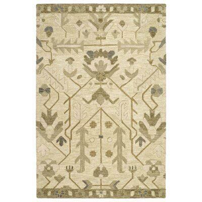Dartmoor Hand-Tufted Olive/Jade Area Rug Rug Size: Rectangle 5 x 76